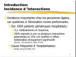 introduction incidence d interactions
