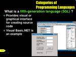 categories of programming languages8