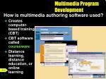 multimedia program development1