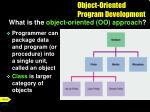 object oriented program development