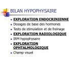 bilan hypophysaire