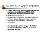 causes du diabete insipide