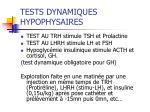 tests dynamiques hypophysaires