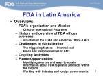 fda in latin america