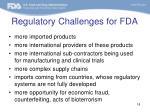 regulatory challenges for fda