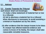 alaska rules of professional conduct