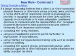 new rule comment 5
