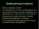 nedbrydning af ethanol