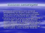 sostanze cancerogene