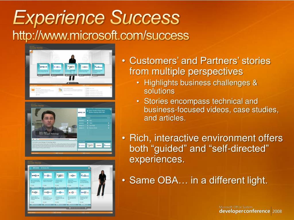 experience success http www microsoft com success