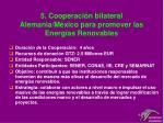 5 cooperaci n bilateral alemania m xico para promover las energ as renovables