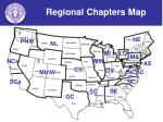 regional chapters map