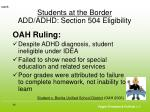 students at the border add adhd section 504 eligibility6