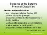 students at the borders physical disabilities2