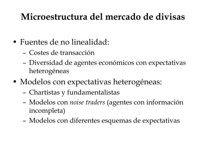 Microestructura del mercado de divisas