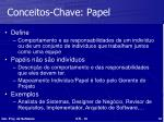 conceitos chave papel