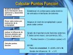 calcular puntos funci n