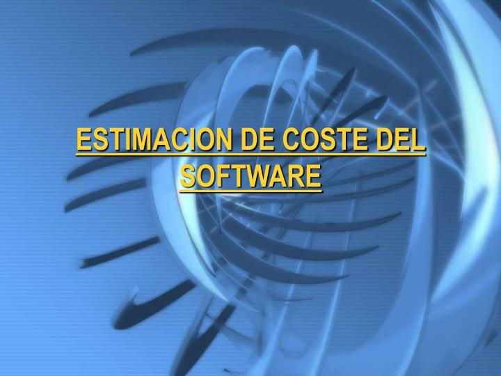 estimacion de coste del software n.