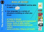 aims of gcse1