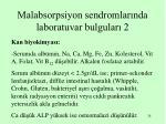 malabsorpsiyon sendromlar nda laboratuvar bulgular 2