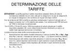 determinazione delle tariffe1