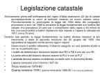 legislazione catastale
