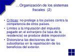 organizaci n de los sistemas fiscales 2