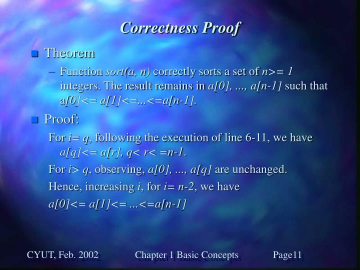 Correctness Proof