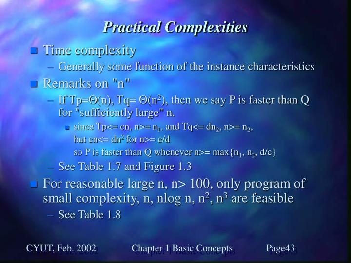 Practical Complexities