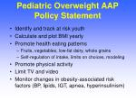 pediatric overweight aap policy statement