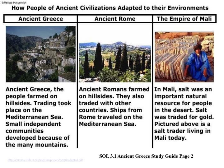SOL 3.1 Ancient Greece Study Guide Page 2
