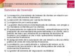 actividades y servicios que prestan los intermediarios financieros en espa a1
