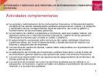 actividades y servicios que prestan los intermediarios financieros en espa a2