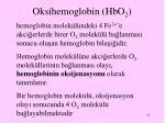 oksihemoglobin hbo 2