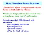 three dimensional protein structures