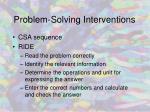 problem solving interventions