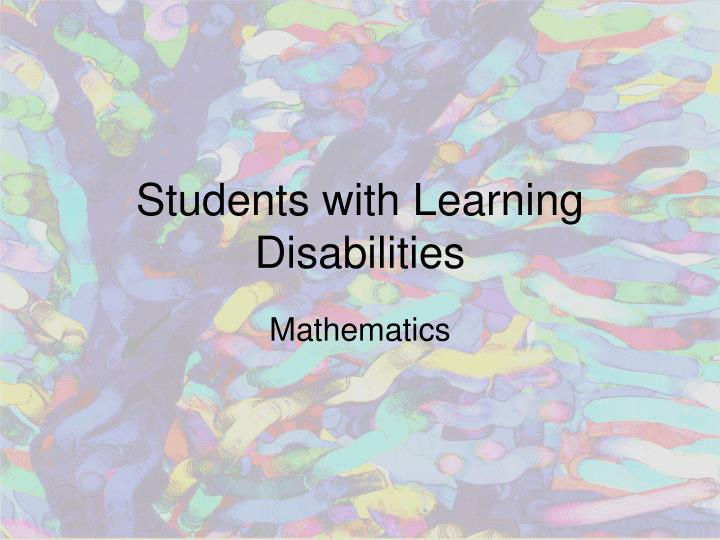 students with learning disabilities n.