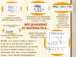 nei quaderni di matematica