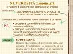 numerosit cardinalit