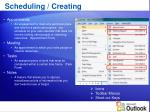 scheduling creating