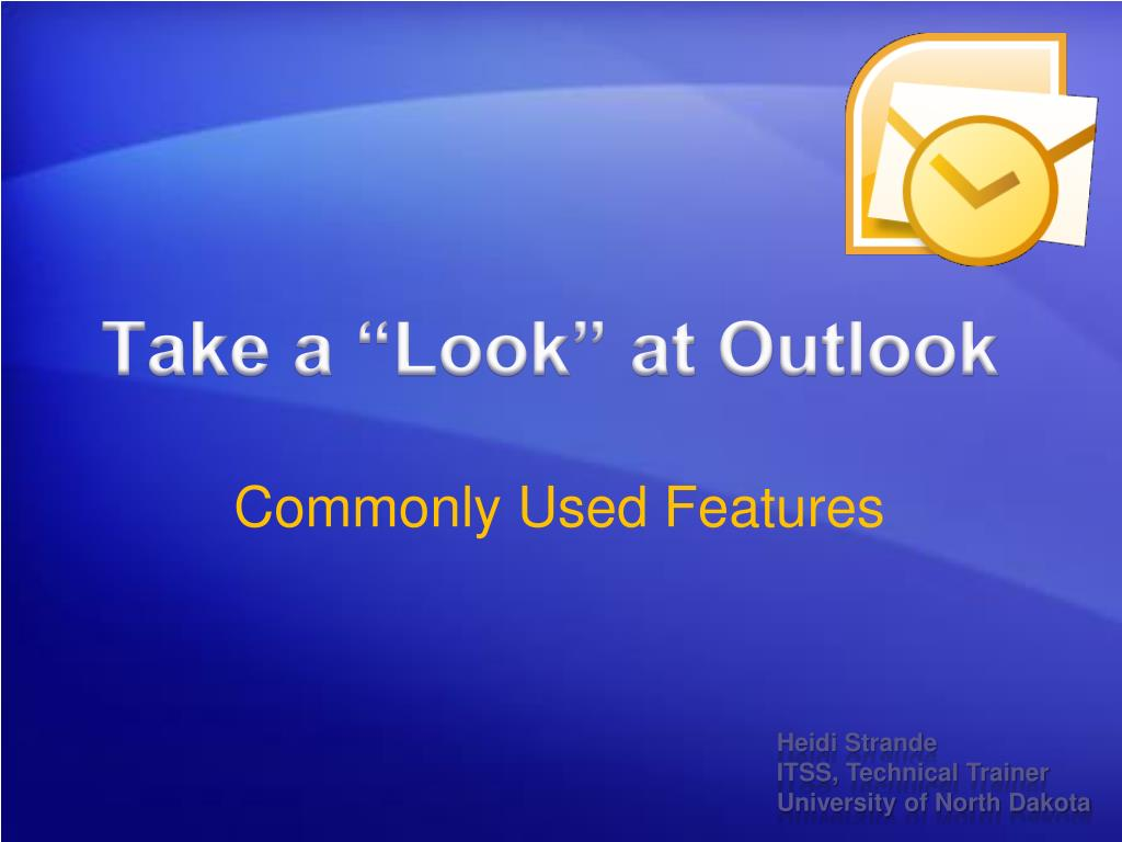 take a look at outlook