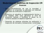 modernizaci n sistemas de inspecci n cr avances