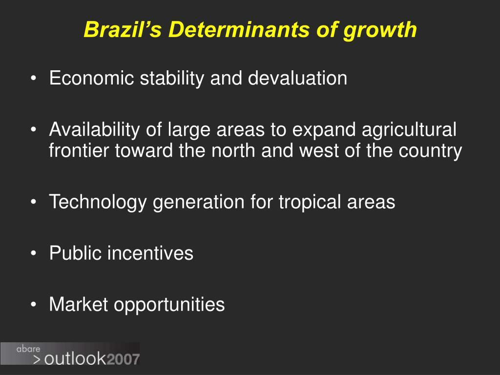 Brazil's Determinants of growth
