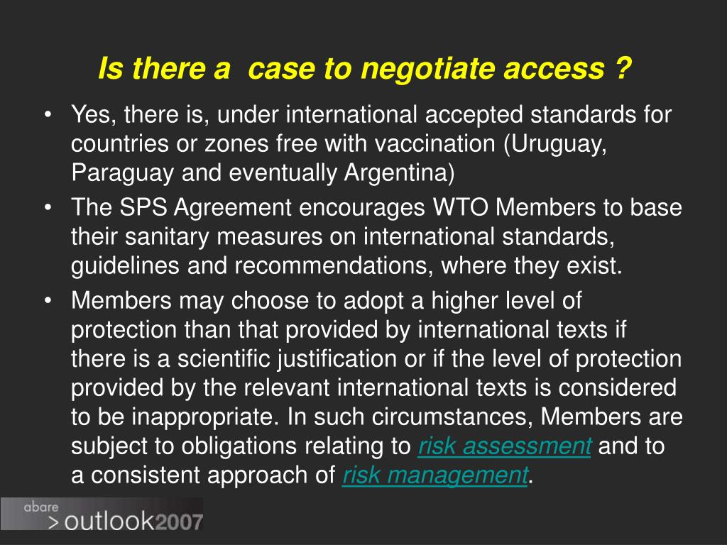 Is there a  case to negotiate access ?