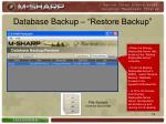 database backup restore backup