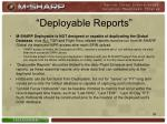 deployable reports