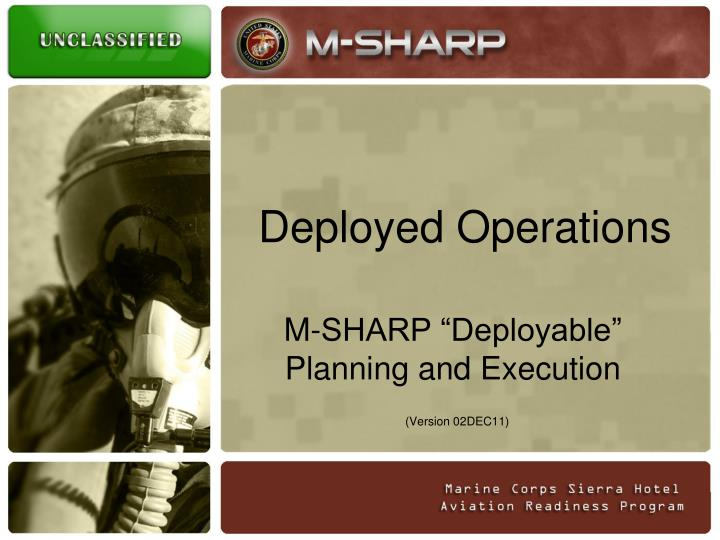 deployed operations n.