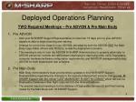deployed operations planning