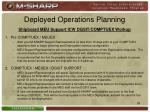 deployed operations planning1