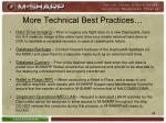 more technical best practices
